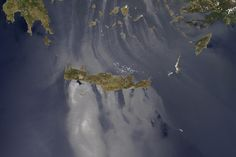 Sunglint on the Aegean and Mediterranean : Image of the Day : NASA Earth Observatory