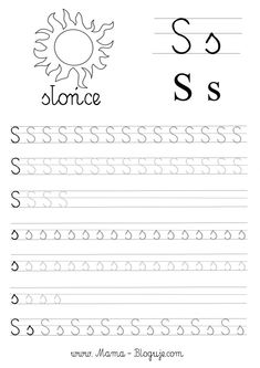 SZABLONY DO NAUKI PISANIA LITER - LITERKI M - Z - Mama Bloguje Tracing Letters, Toddler Learning, Kids Writing, Literacy, Alphabet, Classroom, Lettering, Teaching, Education