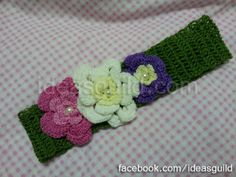flowery head band
