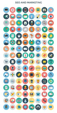 3200+ Flat Vector PSD Icons