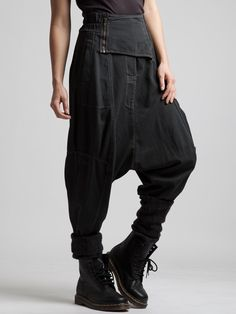 VERY LOW CROTCH TROUSER WITH A RUBBER BAND IN WAIST