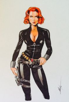 Black Widow by MC Wyman Comic Art
