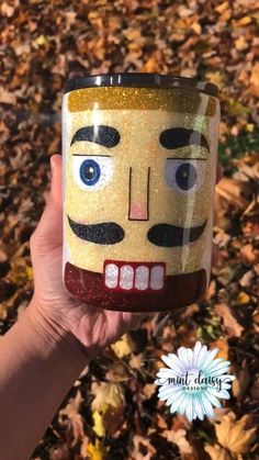 Get crackin' with a nut cracker tumbler! Diy Tumblers, Custom Tumblers, Christmas Tumblers, Cute Cups, Christmas Crackers, Glitter Cups, Personalized Cups, Tumbler Cups, Jingle Bells