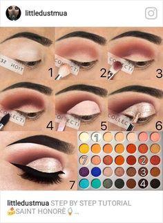 ideas for eye makeup jaclyn hill palette Eye Makeup Steps, Makeup Eye Looks, Love Makeup, Skin Makeup, Eyeshadow Makeup, Makeup Tips, Makeup Ideas, Makeup Hacks, Makeup Trends