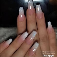 Awesome coffin nails are the hottest nails now. We collected of the most popular coffin nails. So, you don't have to spend too much energy. It's easy to find your favorite coffin nail design. Acrylic Nails Coffin Short, Blue Acrylic Nails, Square Acrylic Nails, Simple Acrylic Nails, French Acrylic Nails, Acrylic Nails Coffin Ombre, Ombre French Nails, Bright Summer Acrylic Nails, Blue Ombre Nails