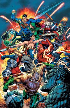 Justice League vs Suicide Squad cover by Jason Fabok colored by Alex Sinclair.