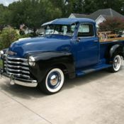 1949 5 Window Deluxe Chevrolet Pickup Truck 9' Foot Bed One Ton 3800 for sale: photos, technical specifications, description Classic Trucks For Sale, Chevy, Chevrolet, Retro Radios, New Tyres, New Carpet, Pick Up, Pickup Trucks, Window