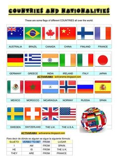 1000+ images about Countries and Nationalities on ...