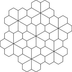 Geometric Tessellation Coloring Pages - Coloring Ideas Tessellation Patterns, Tile Patterns, Pattern Art, Pattern Design, Flower Coloring Pages, Coloring Pages For Kids, Paper Peicing Patterns, Tesselations, Graph Paper Art