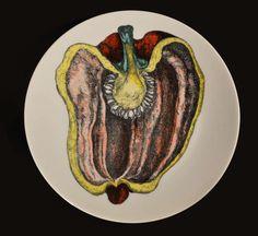Nine Piero Fornasetti Vintage Fruit Plates 7