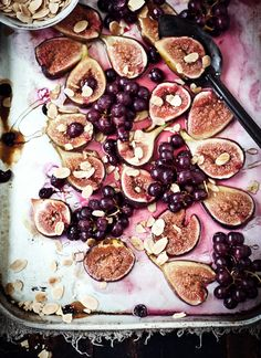 food + drink | honey-roasted figs with limoncello crème fraîche | via: what katie ate