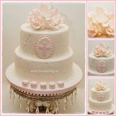 Elegant Baptism Cake - by itsacakething @ CakesDecor.com - cake decorating website