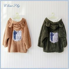 Attack on Titan bear hoodies ;; #taobao