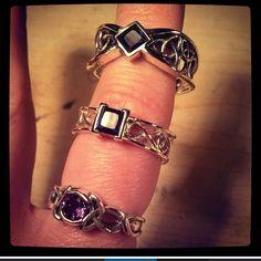 Taken from our Flagship Store's Instagram @spoonier , thanks for the photo Tami! New Celtic Engagement Rings in the works. #celticengagementrings #celticjewelry #sapphire #amethyst #princesscut #alternativebridal #irishwedding #celticwedding