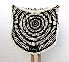 The Tulum Round Towel | The Beach People available from Salt Living  #thebeachpeople