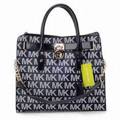 Michael Michael Kors Hamilton Large Tote Bags Black Womens