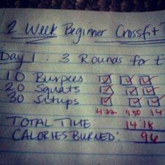 2 Week Beginner CrossFit Program - Day 1 | Consider the leaf TURNED.