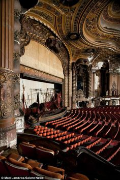 Mr Lambros has visited 57 abandoned theatres across the United States and is not planning on stopping there