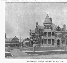 1410 N. Delaware St., Schmidt-Schaf House (now Propylaeum), 1893 :: Indianapolis Historic Preservation Commission Image Collection