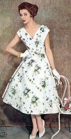 Floral Print Dress 1957