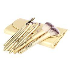 10Pcs High Quality Golden Wool Brush Set – USD $ 9.34