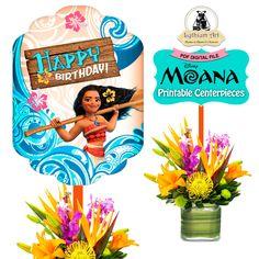 Moana Printable Centerpieces - Moana Centerpieces - Moana Centerpiece Design - Moana Party - Moana Decorations - Moana Birthday - Moana de LythiumArt en Etsy