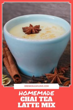 Want to make a homemade chai tea latte just like Starbucks? Here's a chai tea latte mix recipe you can use to make your own DIY chai tea latte with almond milk, dairy milk or your favorite milk substitute fast and easy at home. Green Tea Drinks, Green Teas, Tea Mix Recipe, Hot Tea Recipes, Homemade Chai Tea, French Vanilla Creamer, Milk Dairy, Masala Spice, Tea Latte