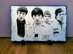 "02 The Who Band Sketch Art Portrait on Slate 12x8"" Rare memorabilia collectables"