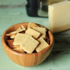 Parmesan Crackers from Cooking for The Specific Carbohydrate Diet - food Scd Recipes, Low Carb Recipes, Easy Recipes, Bread Recipes, Healthy Recipes, Crepes, Recetas Scd, Biscuits, Bad Carbohydrates