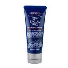 For the future husband - Mens Facial Fuel Energizing Scrub Kiehl's. Shop more skincare from t Best Skincare For Men, Best Skincare Products, Beauty Products, Mens Products, Mens Facial, Facial Hair, Kiehl's Since 1851, Perfume, Male Grooming