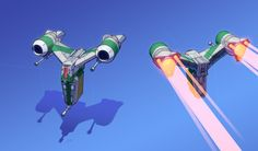 ArtStation - Enemy Space Fighter, Eric Geusz