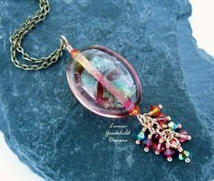 Supernova necklace by Louise Goodchild Designs with my lampwork!