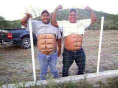 Haha! Pushing their pansa (stomach) up against the wire fence. Oh man!!
