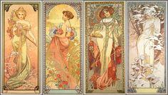The Four Seasons / Alphonse Mucha