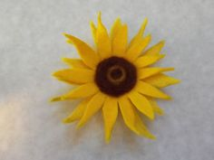 sunflower tutorial - combination of flat felt and needle felting - from Living Crafts
