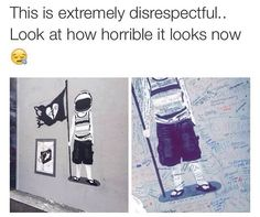 """Do NOT touch the damn graffiti 5SOS had permission to put that there. Those """"people"""" did NOT."""