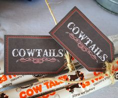 Cute Little Cowboy Cowtail Favor Tags Rodeo Party, Cowboy Birthday Party, Cowgirl Party, 3rd Birthday Parties, 2nd Birthday, Horse Birthday, Birthday Ideas, Cowboy Baby Shower, Denim And Diamonds