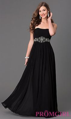 Classic Long Strapless Dress at PromGirl.com