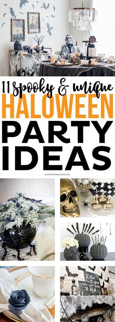 If you are planning on hosting a Halloween party this year, check out these 11 Scary Unique Halloween Party Ideas for both kids and adults! Haloween Party, Adult Halloween Party, Holidays Halloween, Halloween Stuff, Halloween Party Ideas For Adults, Chic Halloween, Halloween Entertaining, Halloween Magic, Halloween Tricks