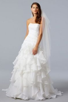 This is a very elagent wedding dress, that has a very impressive design.