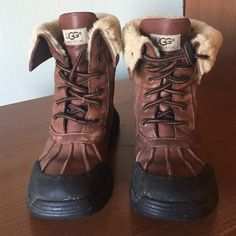Ugg waterproof Boots Ugg Waterproof Boots. These are a kids size 4 could fit a woman's size 6.  Excellent condition. UGG Shoes Winter & Rain Boots