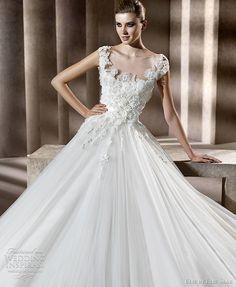 elie by elie saab wedding dresses 2012 - Neftis bridal gown with cap sleeves