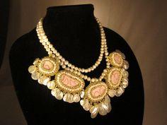 Miss Pinkey.......a lovely statement necklace by MJ2IntDesigns, $250.00
