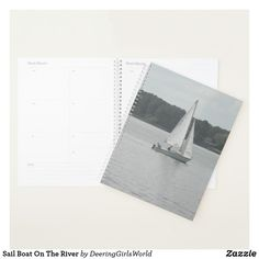 Sail Boat On The River Planner