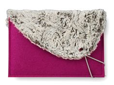 Pink Tablet Sleeve with Fur.  The elastic band to wrap around the corner to close it up.  Super Cute!