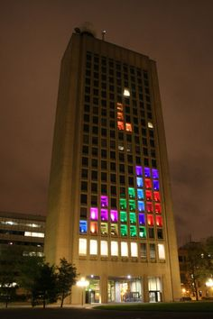"""laughingsquid: MIT Hack Turns Building Into a Giant Playable Game of Tetris """