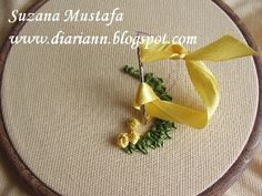 tutorial ribbon embroidery