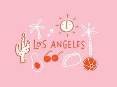 LA Postcard Doodles designed by Alisa Wismer. Connect with them on Dribbble; the global community for designers and creative professionals. People Illustration, Illustrations, Digital Illustration, Graphic Illustration, Travel Illustration, Creative Typography Design, Font Design, Branding Design, Images Vintage