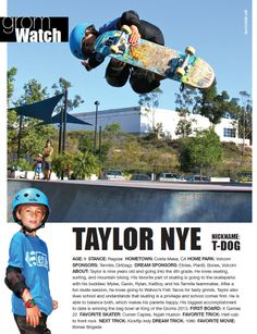 Issue 1, GromWatch: Taylor Nye
