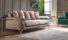 Living Room Decor Brown Couch, Living Room Sofa Design, Living Rooms, Caracole Furniture, L Shaped Sofa, Luxury Living, Sofa Set, Car Seats, Modern